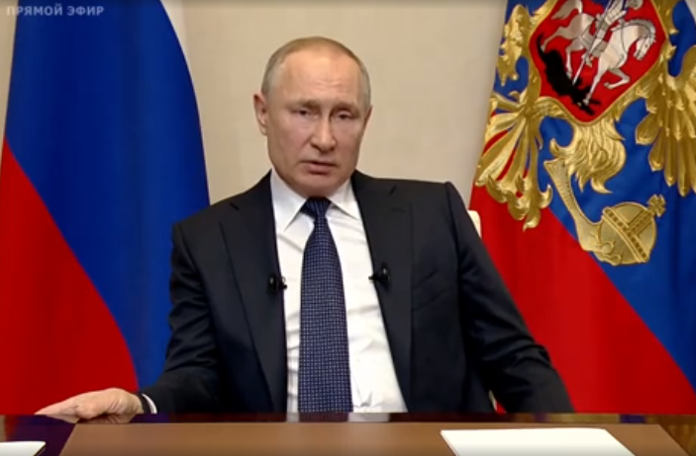 Видеообращение президента РФ 25.03.20: выплаты семьям с детьми и карантин по всей стране