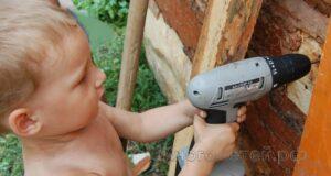 Ребенок с перфоратором