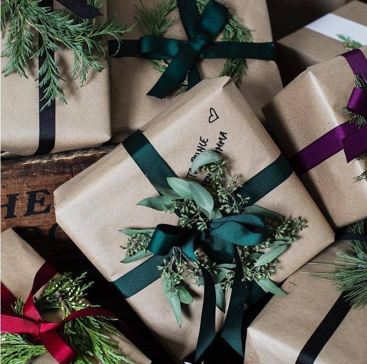 Новогодние подарки красивые упаковки