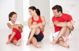спортивная семья дома