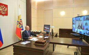 Совещание по коронавирусу с Президентом Путиным