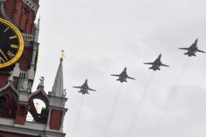 Авиапарад на Красной площади 9 мая 2020
