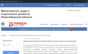 пособие на ребенка от 3 до 7 лет в Новосибирской области