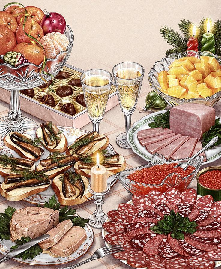 Список продуктов на Новый год 2021. Ничего не забыть!